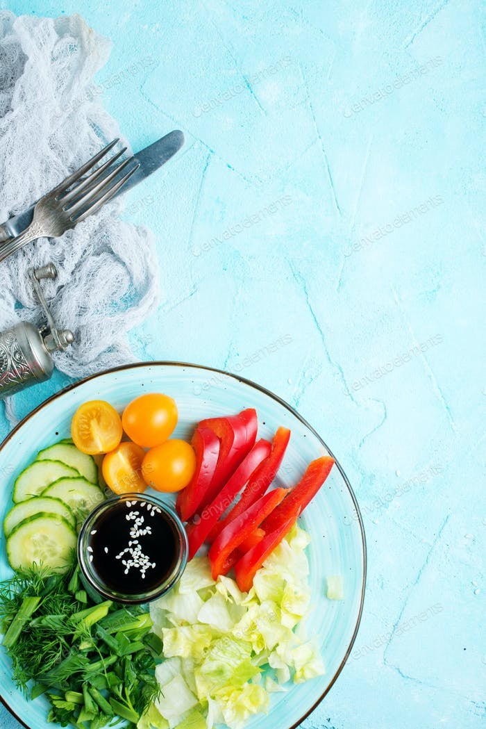 vegetables for salad