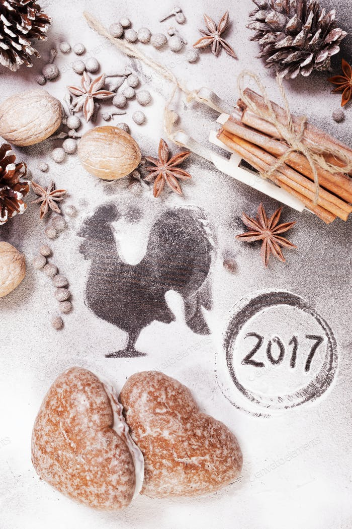 background for new year and Christmas