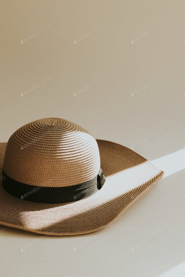 Woven hat with natural light