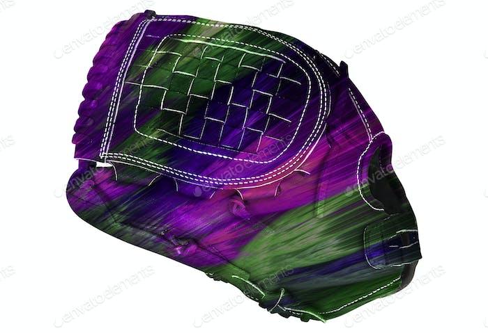 Baseballhandschuh isoliert auf weiß