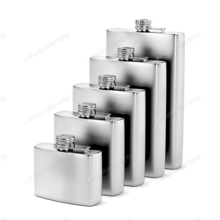 Group of hip flasks