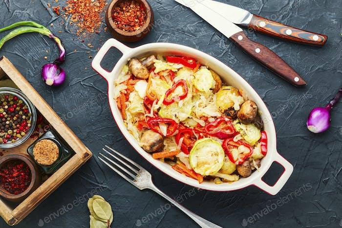 Stew of stewed vegetables.