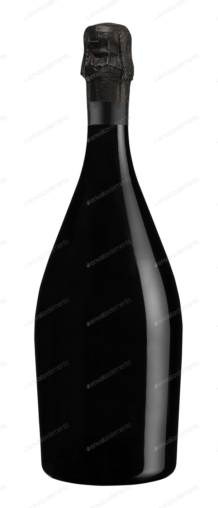 Bottle of champagne isolated