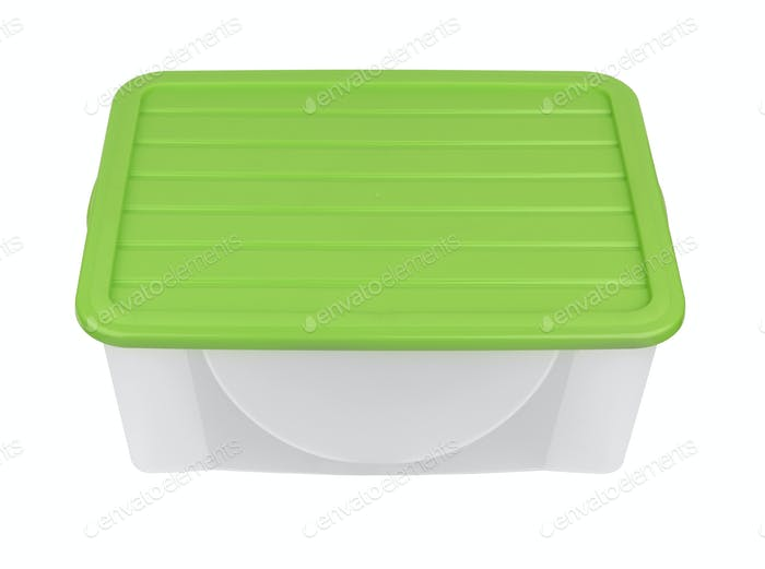Plastic container isolated