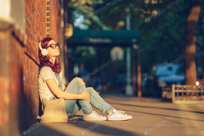 Young girl in sunlight