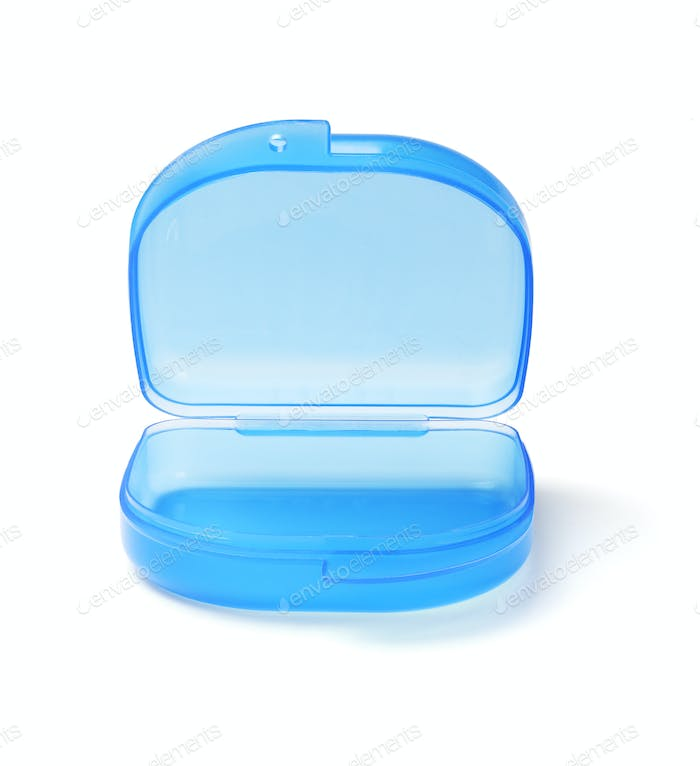 Blue Plastic Storage Container