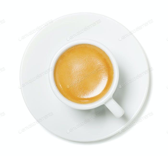 Espresso cup top view