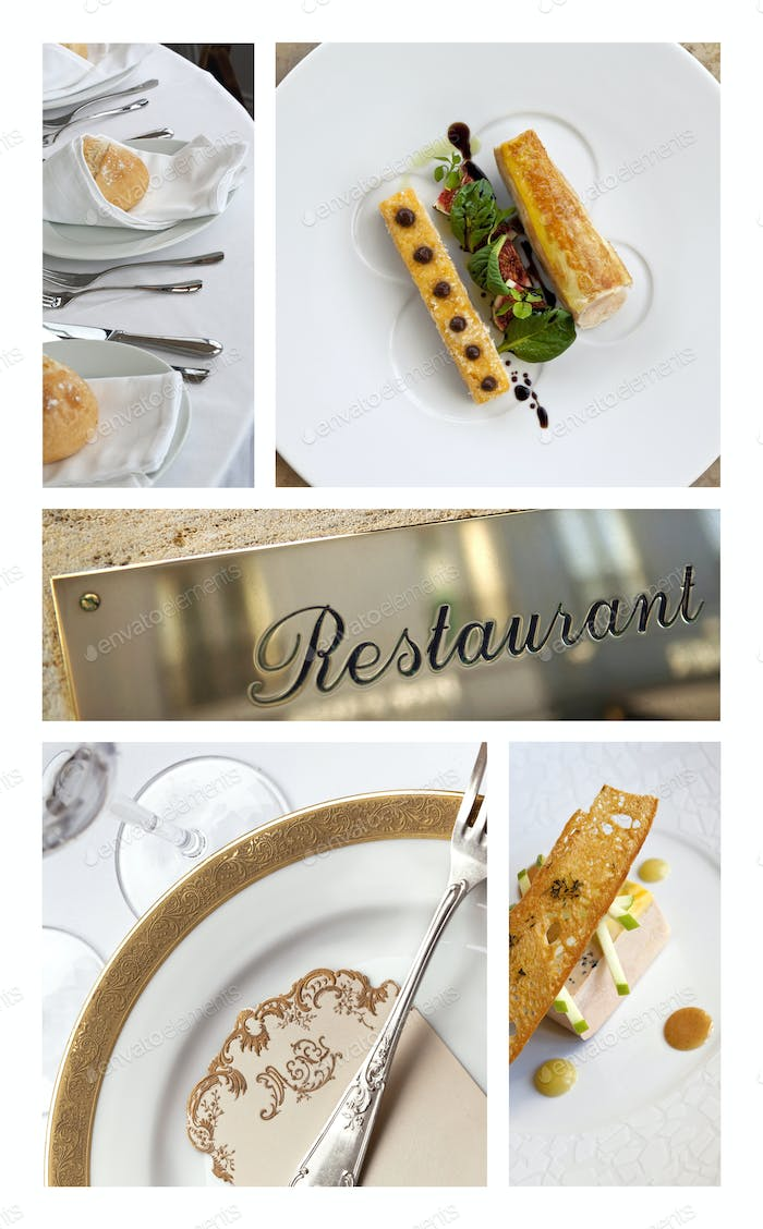 Meals and stylish table sets