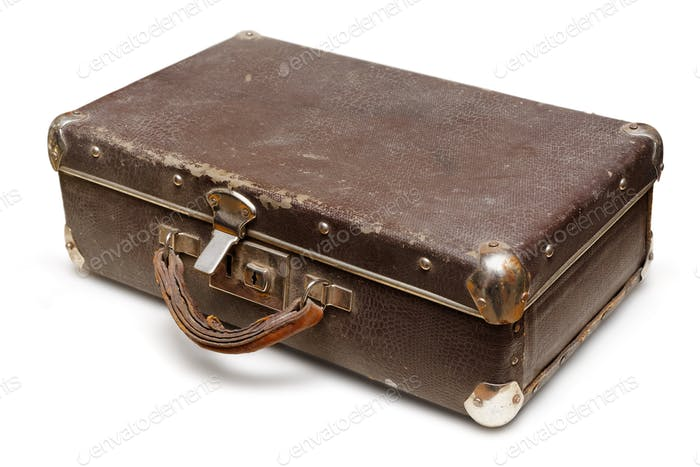 Old shabby suitcase