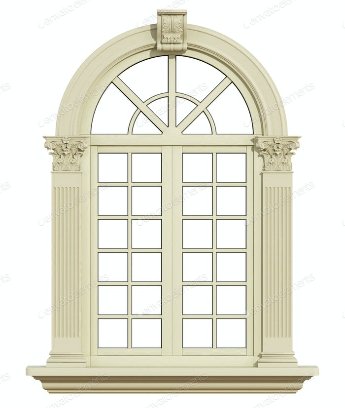 Classic window isolated on white