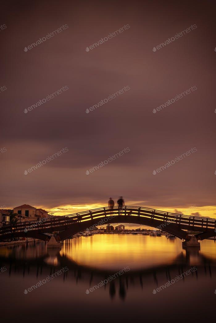 Brücke auf der ionischen Insel Lefkas