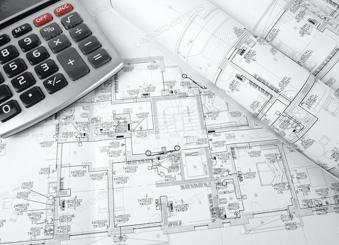 Der Plan der elektrischen Installation