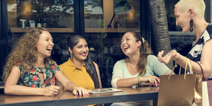 Women Communication Connection Happiness Concept