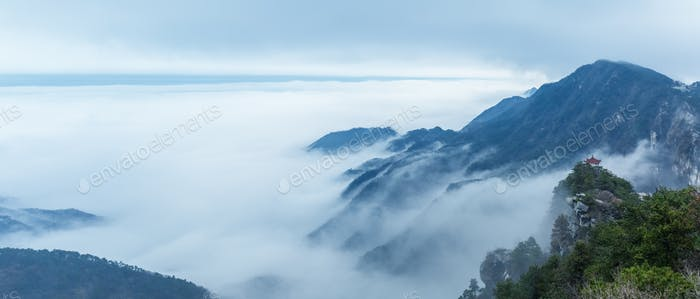 misty mountains panorama