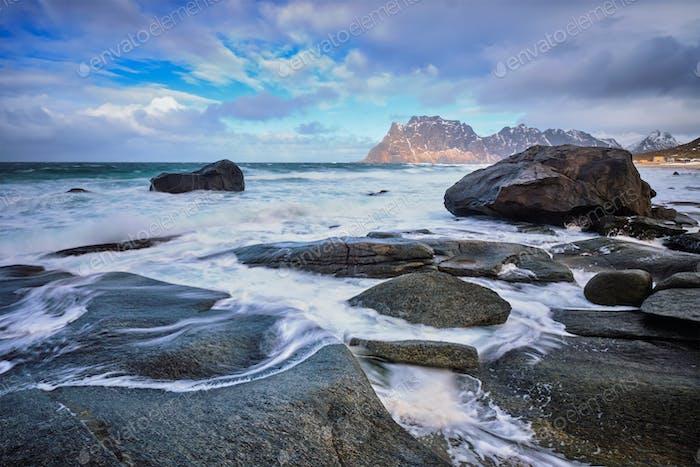 Strand von Fjord in Norwegen