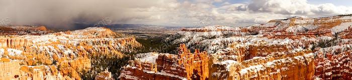 Bryce Canyon erduldet Schnee und Winterwetter in Utah Territory