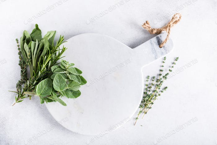 Background with fresh herbs
