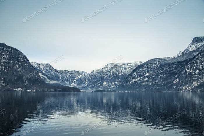 Winter View of Hallstatter See