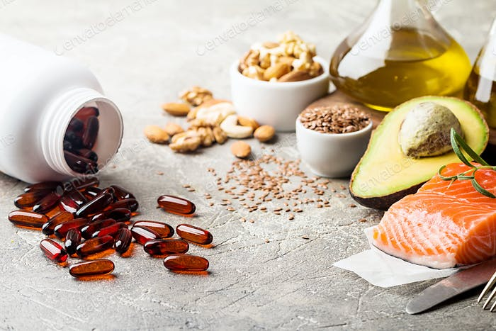 Healthy fats in nutrition.