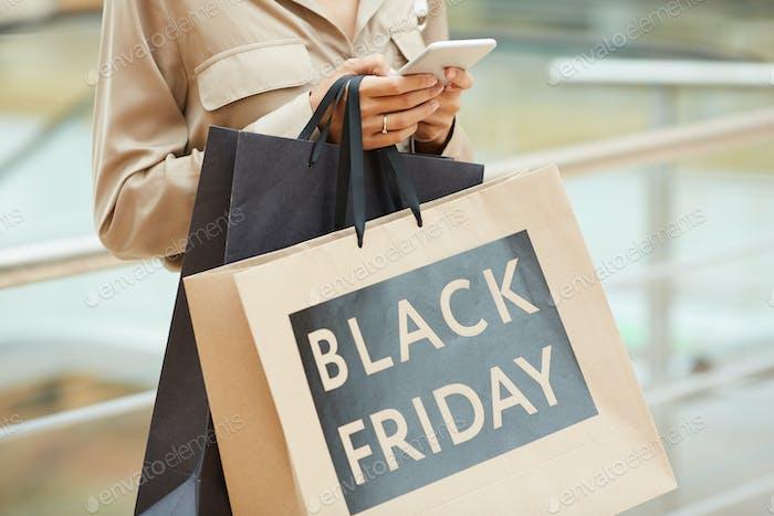 Viernes Negro en el centro comercial