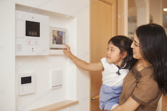 Eintritts-Telefon-Bildschirm, Sicherheit zu Hause