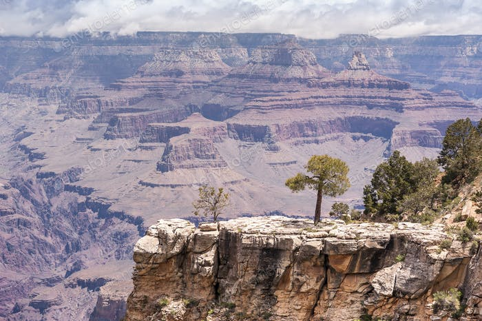 Sunny Day im Grand Canyon National Park, South Rim of View Point, Arizona, USA.