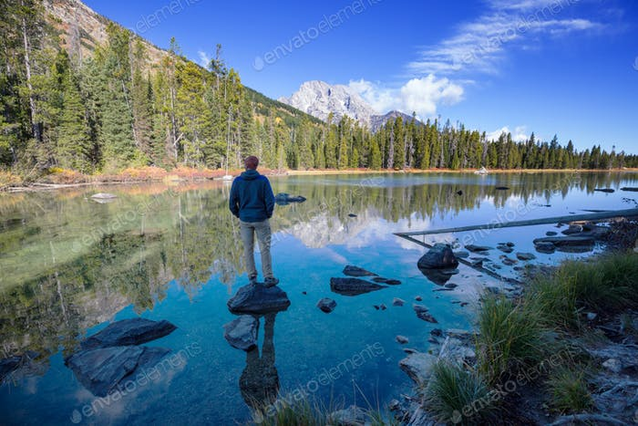 Man on the lake