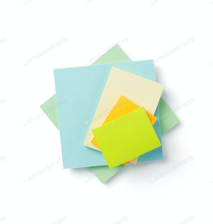 memory note paper at white background