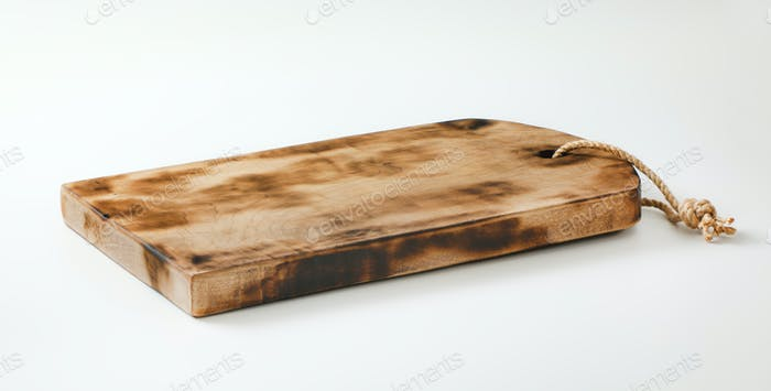 Rustic wooden cutting board or serving tray