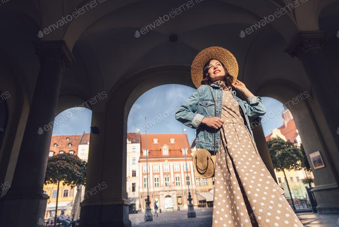 Young girl in Europe