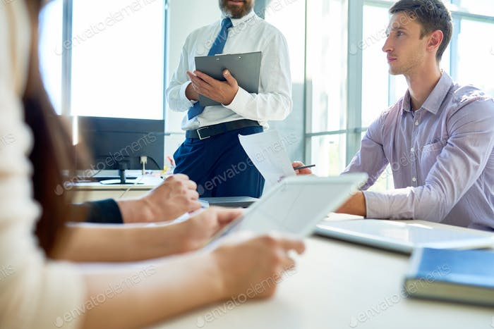 Modern Entrepreneurs Planning Projects in Meeting