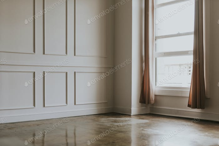 Minimal empty interior room design
