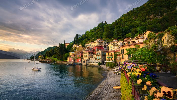 Beautiful town of Varenna, Lake Como, Italy