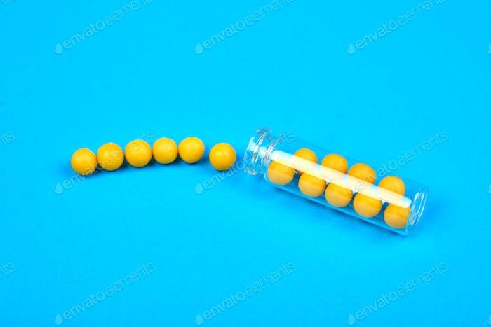 Minimalismus Stil Vorlage für medizinische Pillen Blog.