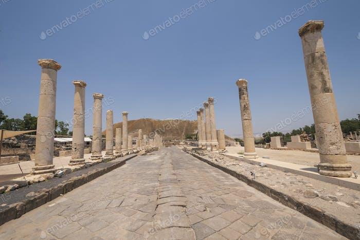 Main Street in an Ancient Roman City