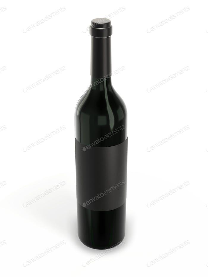 Wine bottle mockup with blank label