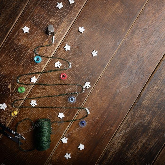 Nähartikel Weihnachten Hintergrund