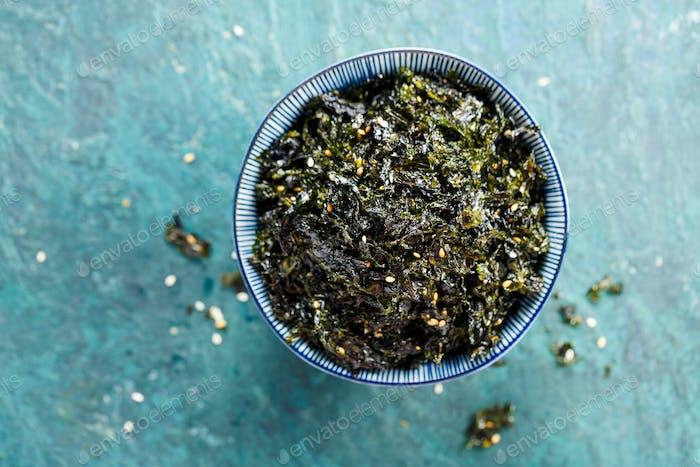 Seasoned Seaweed Snack.
