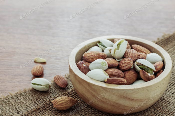 Almond in a bowl