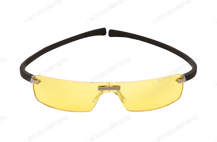 Sportive yellow light sunglasses
