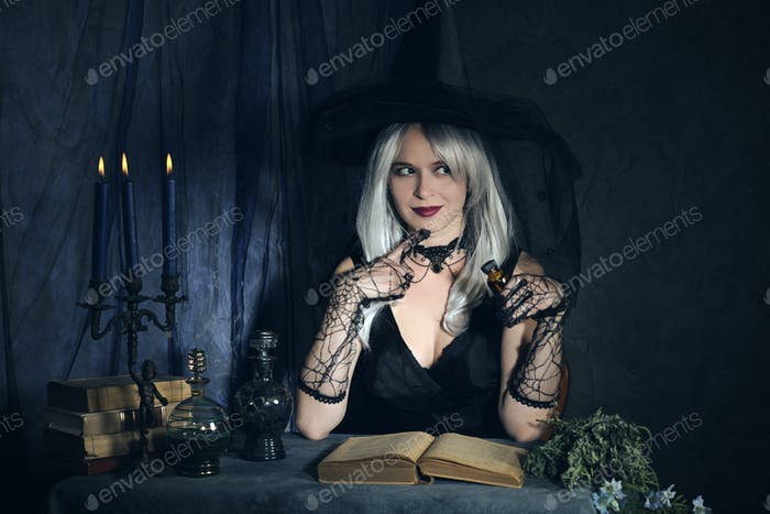 witch at work