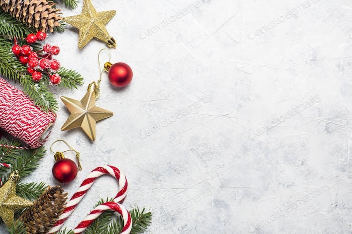 Christmas background on white