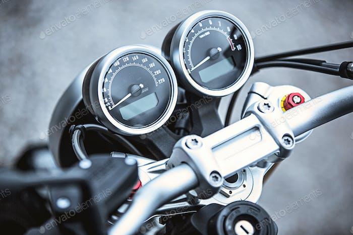 Artículos de lujo de la motocicleta en primer plano: Piezas Moto