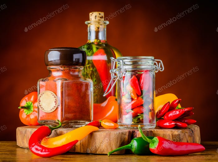 Paprika Spices and Pepper
