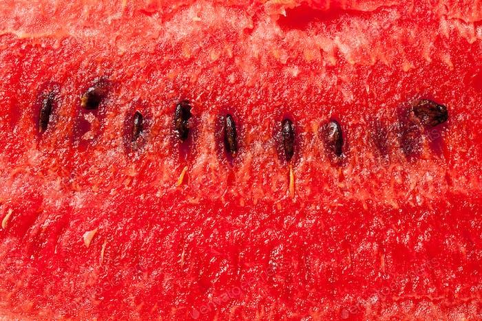 das Detail der Wassermelone