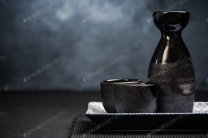 Sake traditional ceramic drinking set