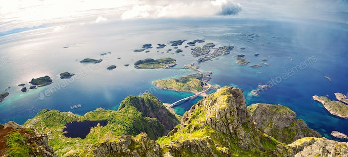 Lofoten Islands panorama