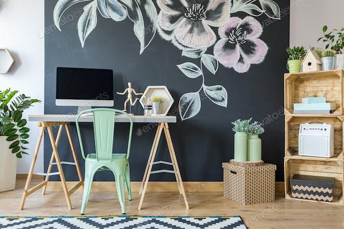 Spacious modern study home office