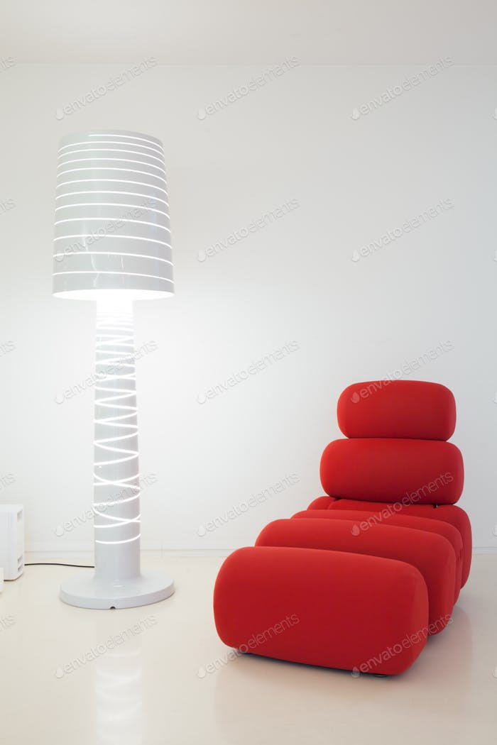 Creative settee and lamp