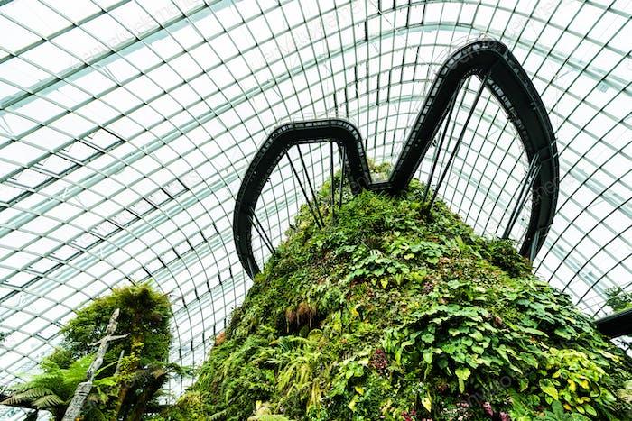 Schöne Architektur Gebäude Blume Kuppel Garten und grünliche